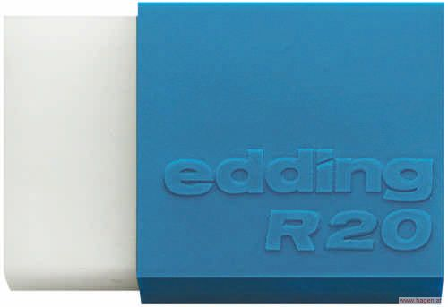 plastikradierer wei edding r20 1 39. Black Bedroom Furniture Sets. Home Design Ideas
