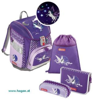 Schultaschenset Pegasus Purple - STEP BY STEP TOUCH 2 FLASH 4-tlg.