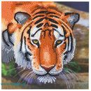 Bastelset Billett Tiger - CRYSTAL ART